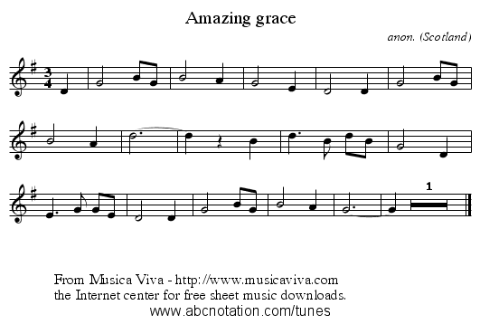 amazing grace song free download