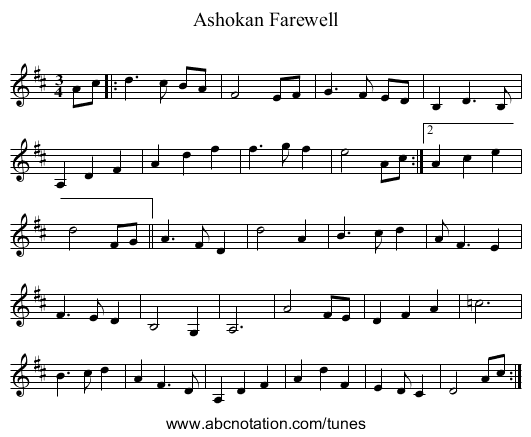 abc | Ashokan Farewell - thesession org/tunes/4997 no-ext/0002