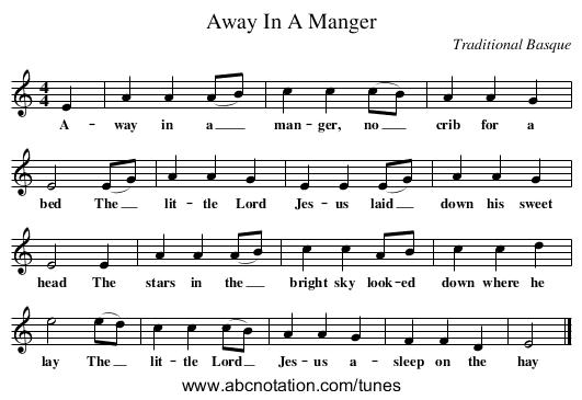 abc  Away In A Manger  wwwjoeoffercomfolkinfosongsabc2850000