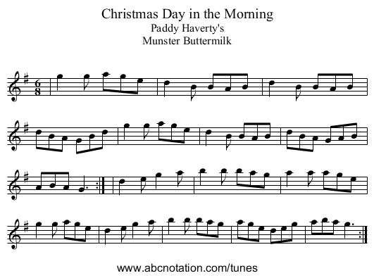 Abc Christmas Day In The Morning Trillian Mit Edu Jc Music Abc