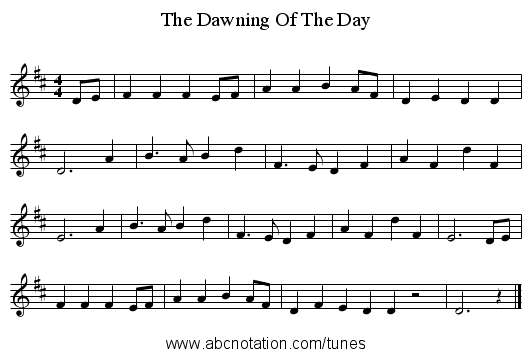 abc | Dawning Of The Day, The - trillian mit edu/~jc/music/abc