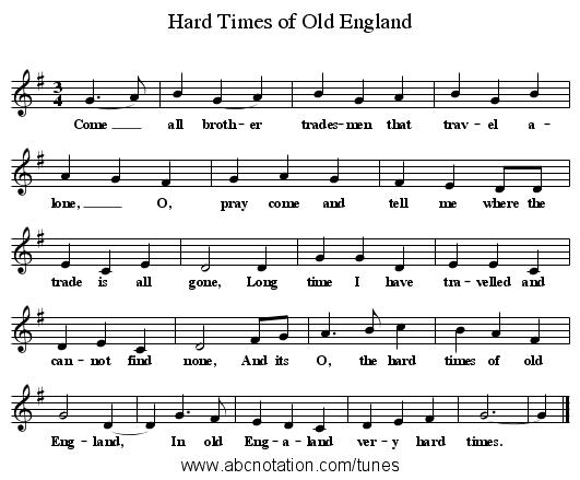 abc | Hard Times of Old England - www joe-offer com/folkinfo/songs
