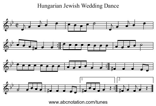 Musicxml Hungarian Jewish Wedding Dance