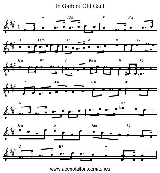 abc   In Garb of Old Gaul - trillian mit edu/~jc/music/abc/Scotland