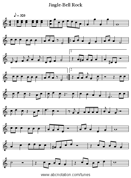 jingle bells rock text