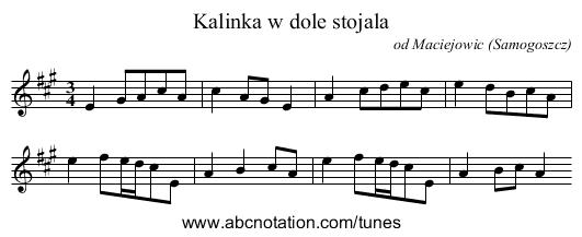 abc | Kalinka w dole stojala - ifdo ca/~seymour/runabc/esac
