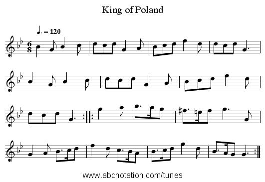 abc   King of Poland - trillian mit edu/~jc/music/book