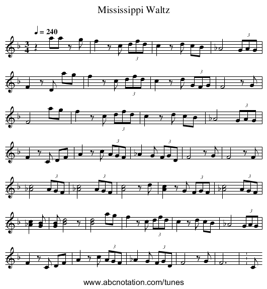 http://abcnotation.com/getResource/downloads/image/mississippi-waltz.png?a=tunearch.org/wiki/Mississippi_Waltz.no-ext/0001