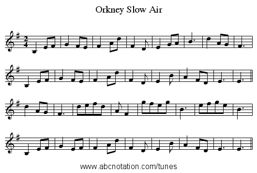 abc | Orkney Slow Air - thesession org/tunes/6116 no-ext/0001