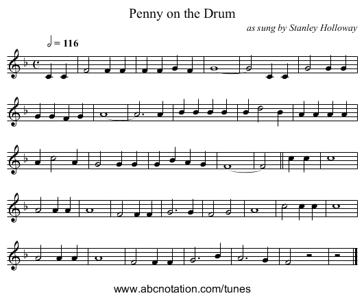 abc | Penny on the Drum - www campin me uk/Music/Chalumeau/0101