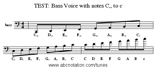 abc | TEST: Bass Voice with notes C,, to c - trillian.mit.edu/~jc ...