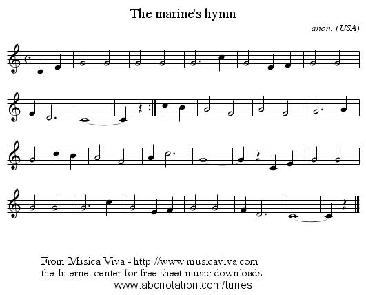 abc | The marine's hymn - trillian.mit.edu/~jc/music/abc ...