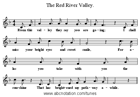 abc : The Red River Valley. - www.joe-offer.com/folkinfo/songs/abc/436/0000