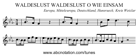 Waldeslust Lied