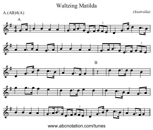 abc | Waltzing Matilda - www.ucolick.org/~sla/morris/music/Adderbury ...