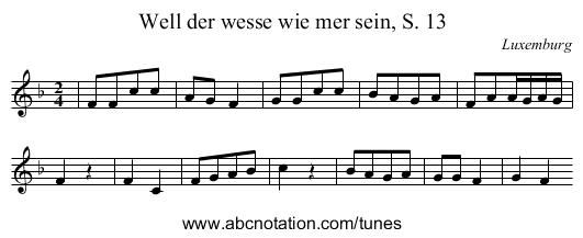 abc   Well der wesse wie mer sein, S. 13 - ifdo.ca/~seymour/runabc ...