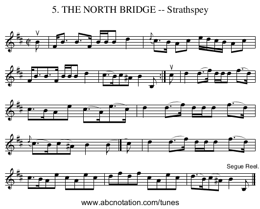 5. THE NORTH BRIDGE -- Strathspey - staff notation