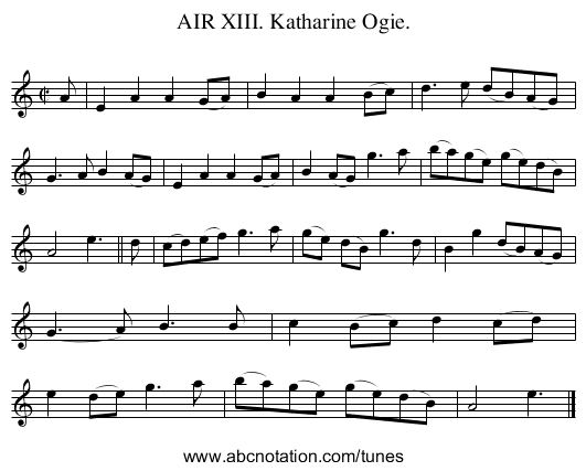 AIR XIII. Katharine Ogie. - staff notation