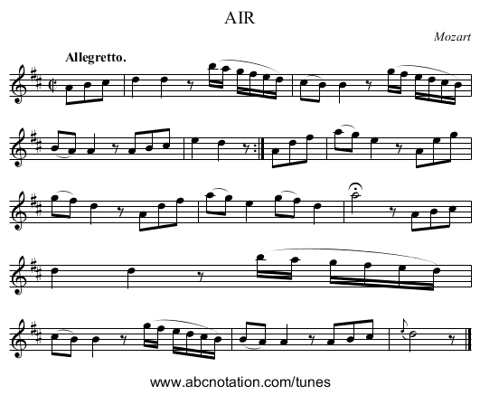 AIR - staff notation