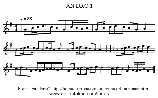 AN DRO 1 - staff notation