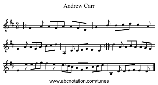 Andrew Carr - staff notation