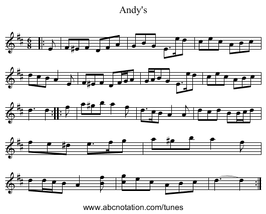 Andy's - staff notation