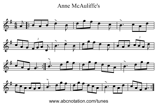 Anne McAuliffe's - staff notation