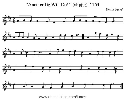 Another Jig Will Do!  (slipjig)  1163 - staff notation