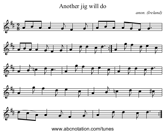 Another jig will do - staff notation
