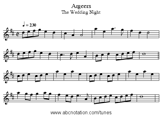 Argeers - staff notation