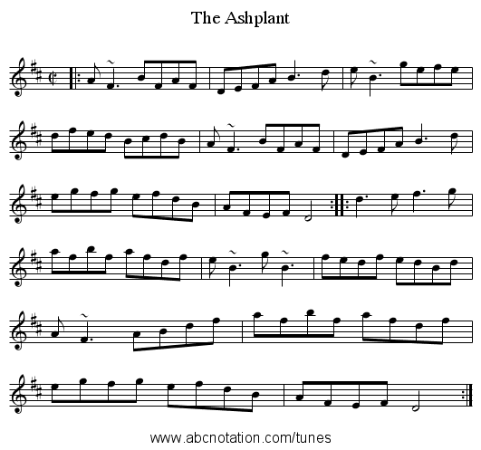 Ashplant, The - staff notation