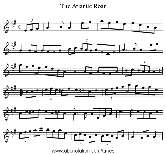 Atlantic Roar, The - staff notation