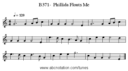 B371-  Phillida Flouts Me - staff notation