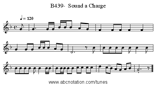 B439-  Sound a Charge - staff notation