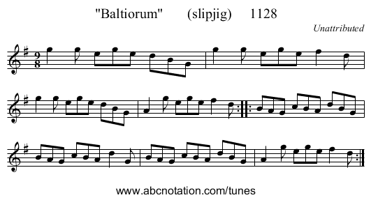 Baltiorum       (slipjig)     1128 - staff notation