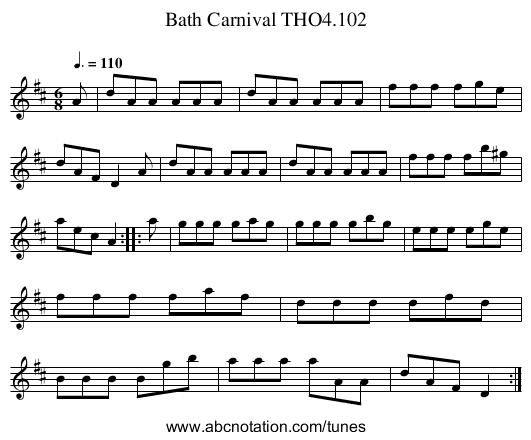 Bath Carnival THO4.102 - staff notation