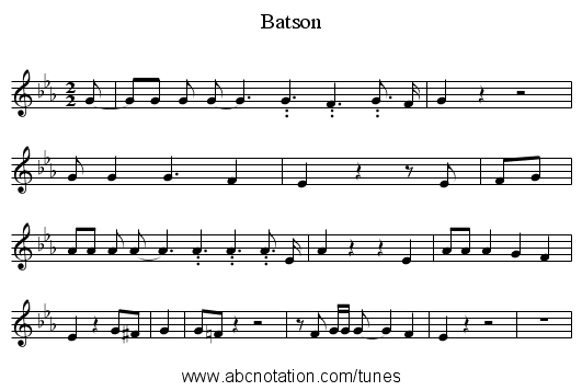 Batson - staff notation