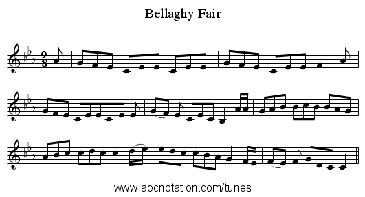 Bellaghy Fair - staff notation