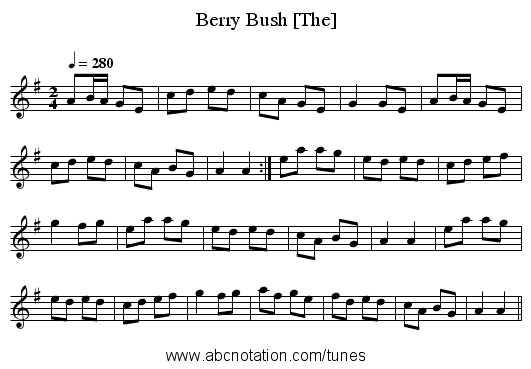 Berry Bush [The] - staff notation