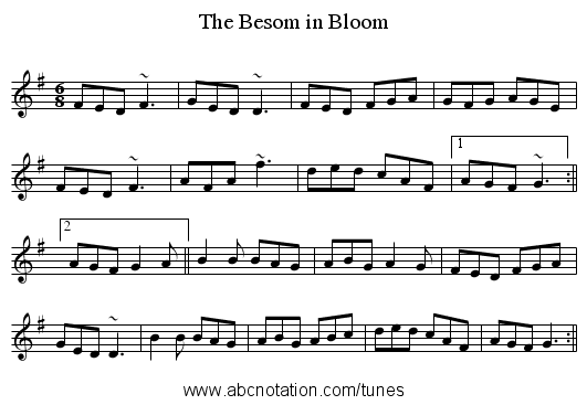 Besom in Bloom, The - staff notation