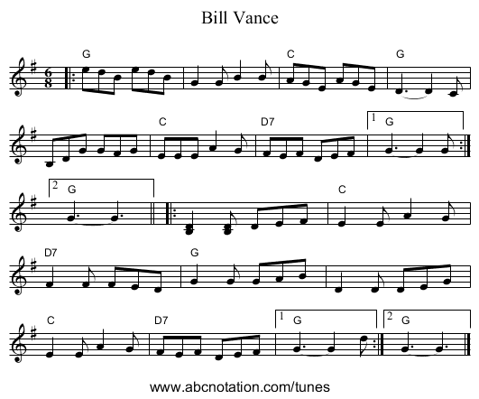 Bill Vance - staff notation