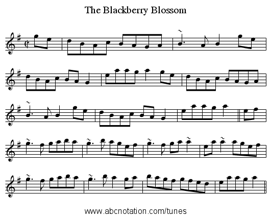 Blackberry Blossom, The - staff notation