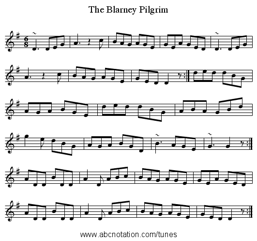 Blarney Pilgrim, The - staff notation