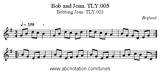 Bob and Joan. TLY.005 - staff notation
