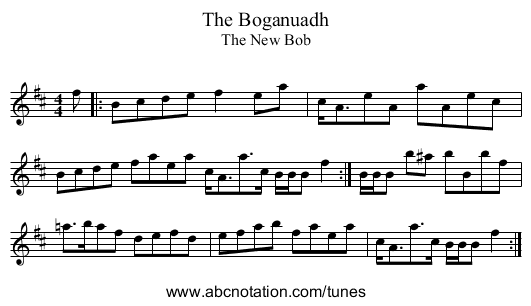 Boganuadh, The - staff notation