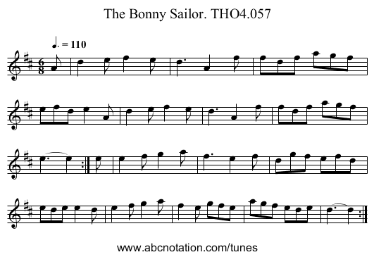 Bonny Sailor. THO4.057, The - staff notation