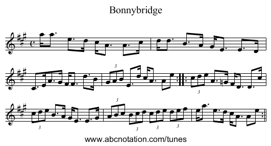 Bonnybridge - staff notation