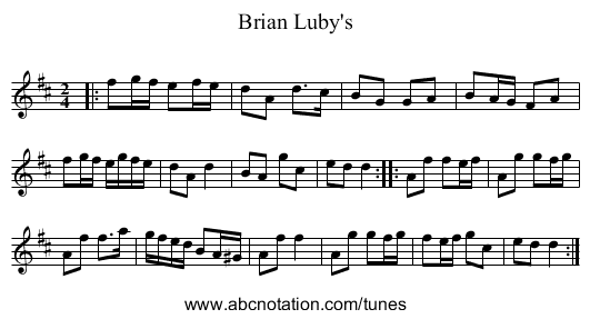 Brian Luby's - staff notation