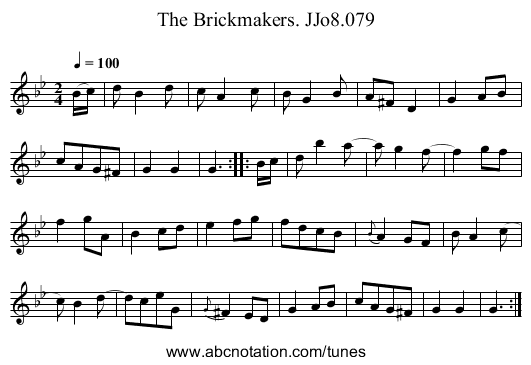 Brickmakers. JJo8.079, The - staff notation