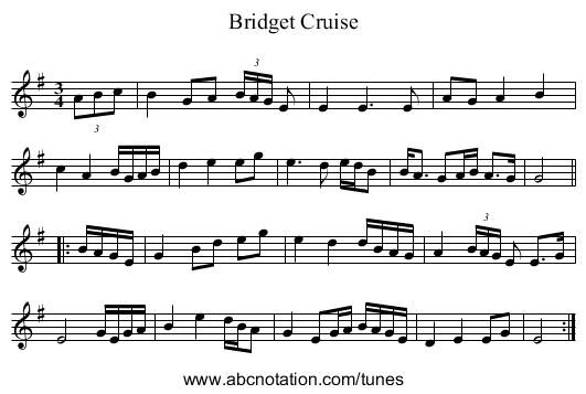 Bridget Cruise - staff notation